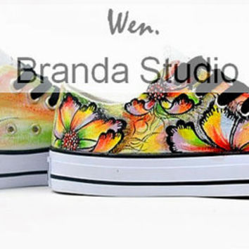 Italy Venice Glass Low Style Top Studio Hand Painted Shoes 49.99Usd,Paint On Custom Converse Only 89Usd,Buy One Get One IPhone Case Free