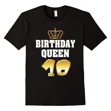 Birthday Queen 10 Years Old Shirt