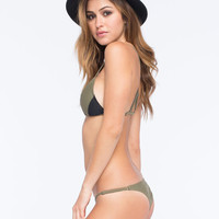 Rvca Spliced & Diced Skimpy Bikini Bottoms Black  In Sizes