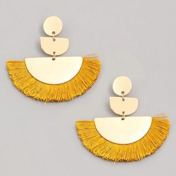 Wild & Free Earrings - Goldenrod