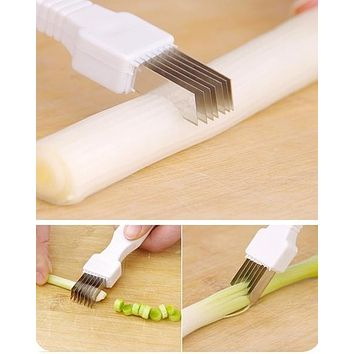 New Fashion Vegetable Fruit Onion Cutter Slicer Peeler Chopper Shredder Kitchen Gadget Tool Scallion knife Shred