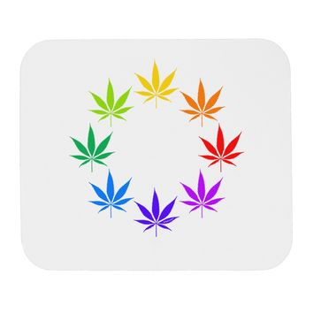 Rainbow Pot - Marijuana Leaf Mousepad