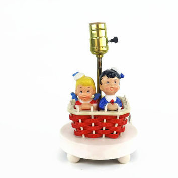Vintage Nursery Lamp Dolly Toy Company Lamp Hot Air Balloon Lamp