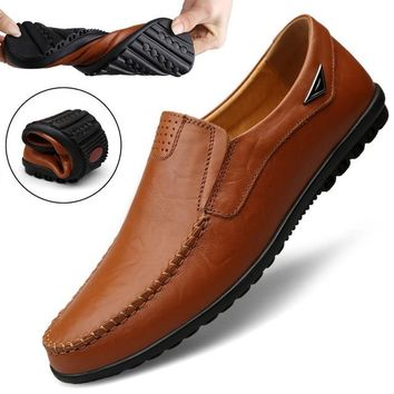 Genuine Leather Mens Loafer Shoes