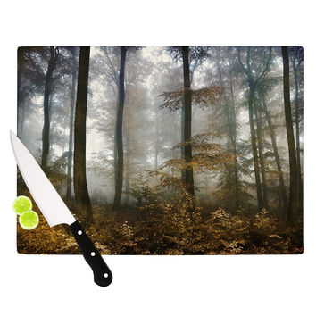 "Iris Lehnhardt ""Forest Mystics"" Brown Gray Cutting Board"