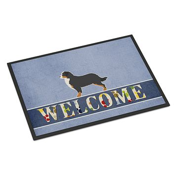 Bernese Mountain Dog Welcome Indoor or Outdoor Mat 18x27 BB5523MAT