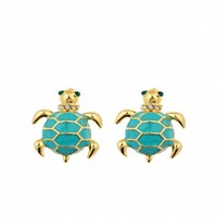 Fornash Enamel Turtle Earrings