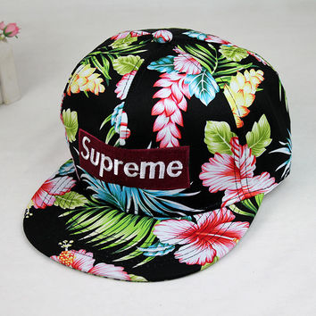 cool Floral Printed Baseball Cap Hat
