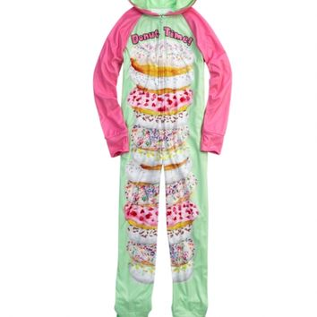 Donut Fleece Footed Pajama