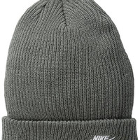 Nike Mens SB Fisherman Skull Cap Beanie Tumbled Grey White