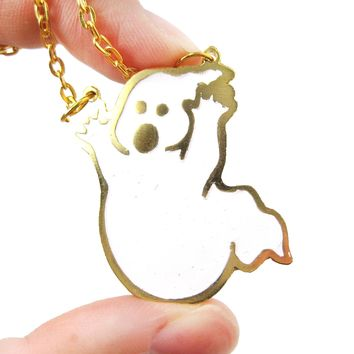 Ghostbusters Ghost Logo Shaped Pendant Necklace | Limited Edition