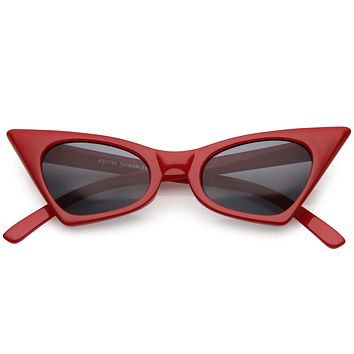 Women's Retro High Pointed Cat Eye Sunglasses C583