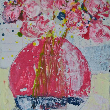 Acrylic Still Life Floral Painting