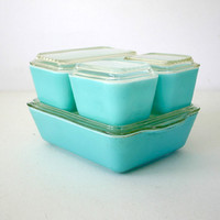 Turquoise Pyrex Refrigerator Dish Set by ConceptFurnishings