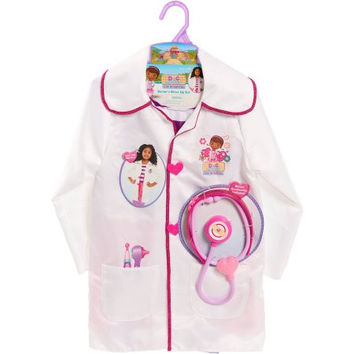 Disney Doc McStuffins Girls Kids Pretend Play Doctors Dress Up Coat Set Kit