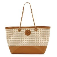 Tory Burch: Marion Woven Straw Tote Bag