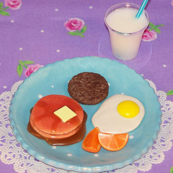 "Pancake Shortstack Breakfast- doll food - sized for 18"" dolls like American Girl"
