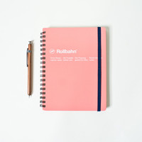 Rollbahn Spiral A5 Notebook - Coral Pink - Working