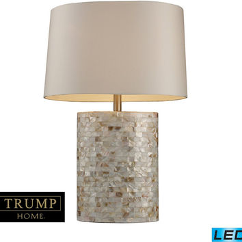 0-025316>Sunny Isles 1-Light LED 3-Way Table Lamp Mother Of Pearl