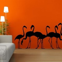 Flamingos Vinyl Wall Decal