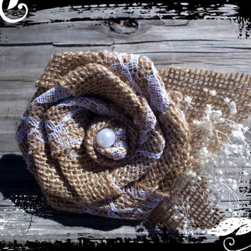 Rustic burlap boutonniere set of 6 rustic button hole grooms accessories wedding accessories