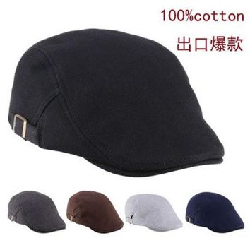 VONGB5 2015 Mens Womens Duckbill Fashion Classic beret cabbie newboy pure Color Flat hat golf Driving cap [9221947460]