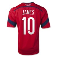 Colombia 2014 JAMES Away Soccer Jersey - WorldSoccerShop.com