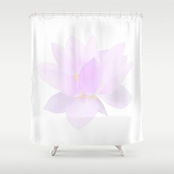 Morning Dew on the Petals Shower Curtain by Lena Photo Art