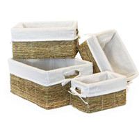 Walmart: Baum Lined Binded Rice Storage Baskets, Set of 4, Natural