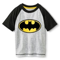 Batman Infant Toddler Boys' Raglan Short Sleeve Tee