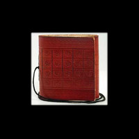 Pocket Genuine Leather Blank Journal with cord