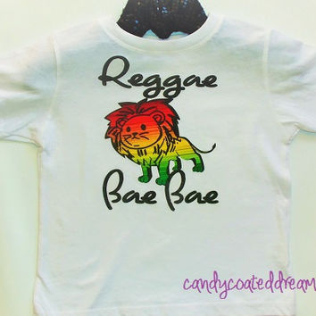 REGGAE BAE BAE T-shirt or Onesuit girl boy cute boysuit unque funny trendy newborn toddler fashion layette custom personalized fashion new