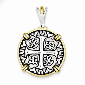Sterling Silver & Vermeil Chinese Symbols Pendant