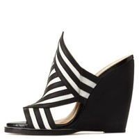 GX by Gwen Stefani Mixed Stripe Slide Wedges