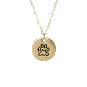 Paw Stamped Spirit Necklace