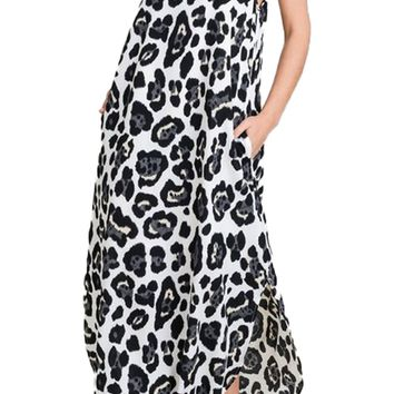 Jodifl Ivory Leopard Maxi Dress