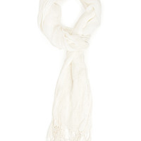FOREVER 21 Easy Open-Knit Scarf Cream One