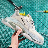 Balenciaga Triple S Clear Sole Trainers Grey Sneakers - Best Online Sale