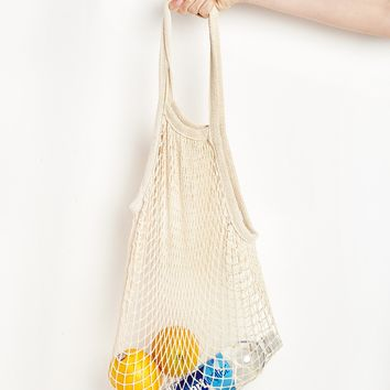 Ivory Fisherman Net Shoulder Bag
