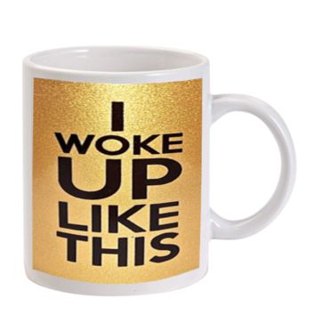 Gift Mugs | I Woke Up Like This Beyonce Gold Ceramic Coffee Mugs