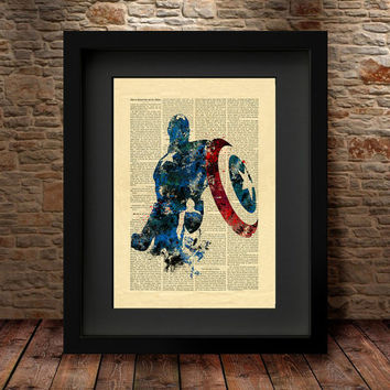 Captain America, Marvel avengers, Captain America Print, Marvel Print, Marvel Poster, Wall Art, Home decor, Captain America Art - 73