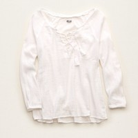 AERIE LACE UP TEE