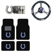 Licensed Official New NFL Indianapolis Colts Car Truck Floor Mats Steering Wheel Cover & Emblem