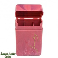 Smoky Plastic Cigarette Case - King - Pink