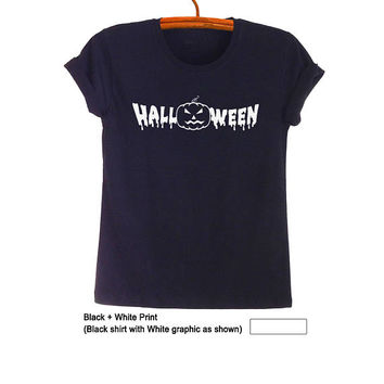 Halloween Shirts Outfits Halloween Pumpkin Tees Tumblr Grunge T Shirt Top Tee Cool Womens Mens Halloween Shirts Jack O Lantern T Shirt