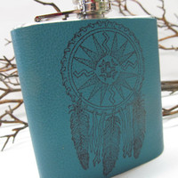 leather flask - hip flask - festival essentials - handmade leather flask