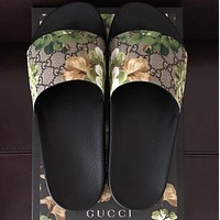 Gucci Fashion Floral Print Sandal Slipper Shoes