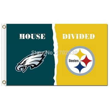 Philadelphia Eagles Flag Vs Pittsburgh Steelers Banner Flag World Series 2016 Philadelphia Eagles Flag And Pittsburgh Steelers