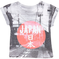 River Island Mini boys white Japan print t-shirt
