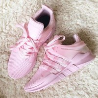 DCCKIJG Adidas' Equipment EQT Support ADV Pink Casual Sports Shoes Pink